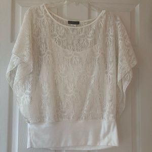 White Lacey Top by Grass Collection